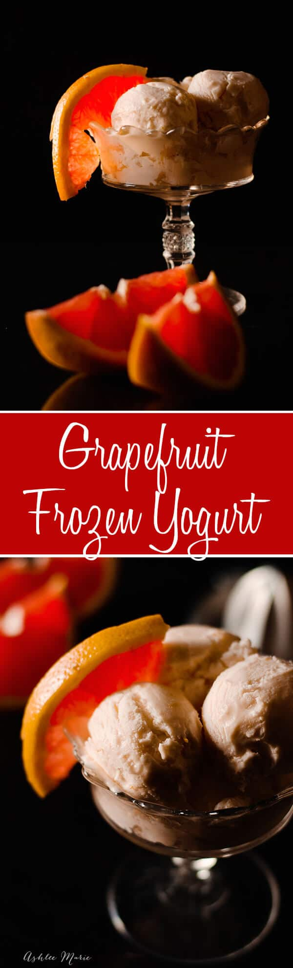 this creamy grapefruit frozen yogurt recipe is super easy to make and perfect for spring! #frozenyogurt #grapefruit #springrecipe