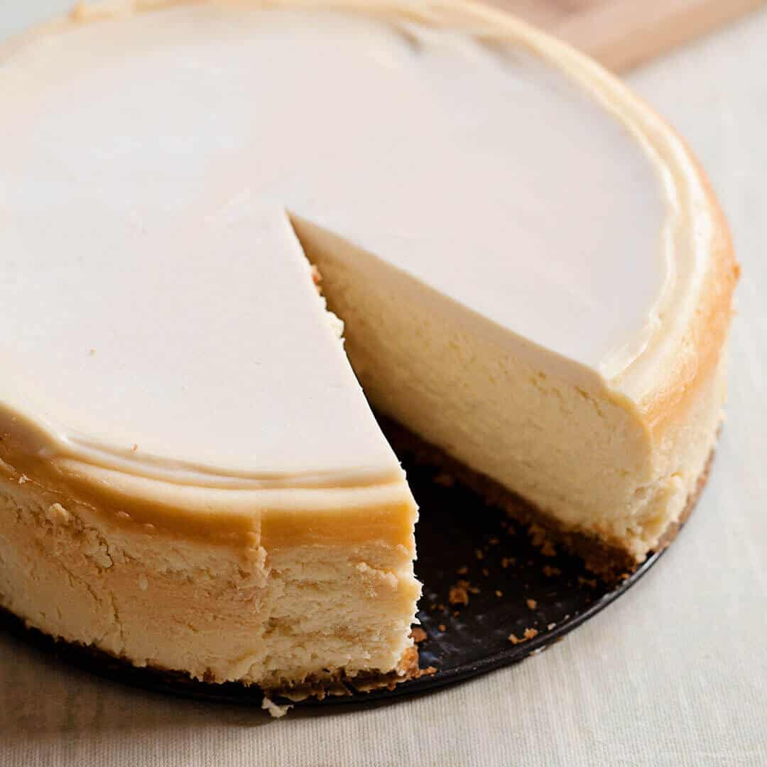 dense and creamy, the perfect cheesecake recipe