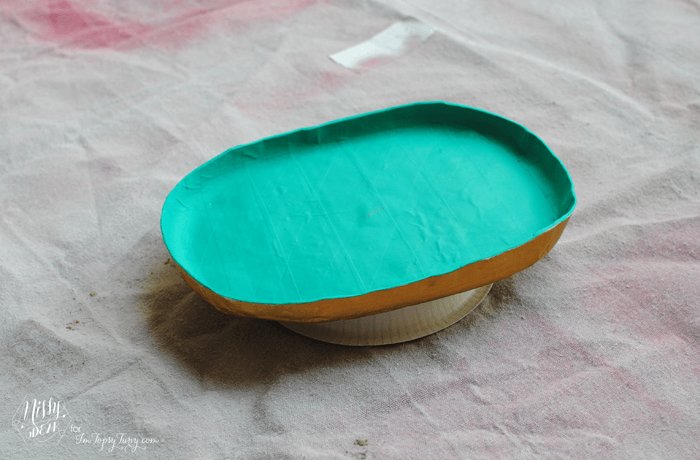 Paper Mache Tray painting