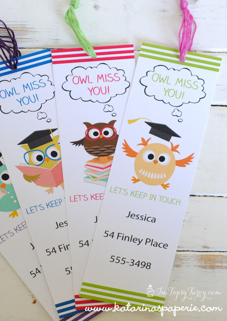 picture about Owl Miss You Printable named Conclude of Faculty Printable Bookmarks Ashlee Marie - legitimate enjoyment