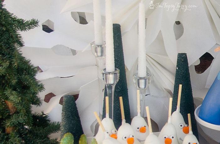 frozen-party-Styrofoam-pine-trees