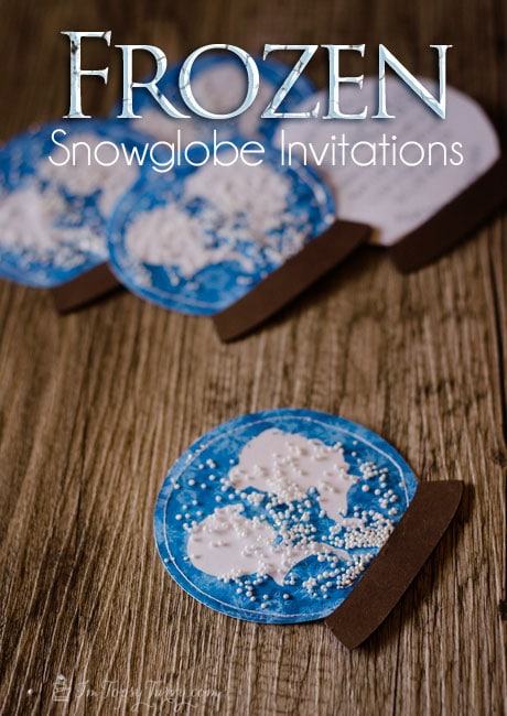 easy snow globe invitations frozen birthday party