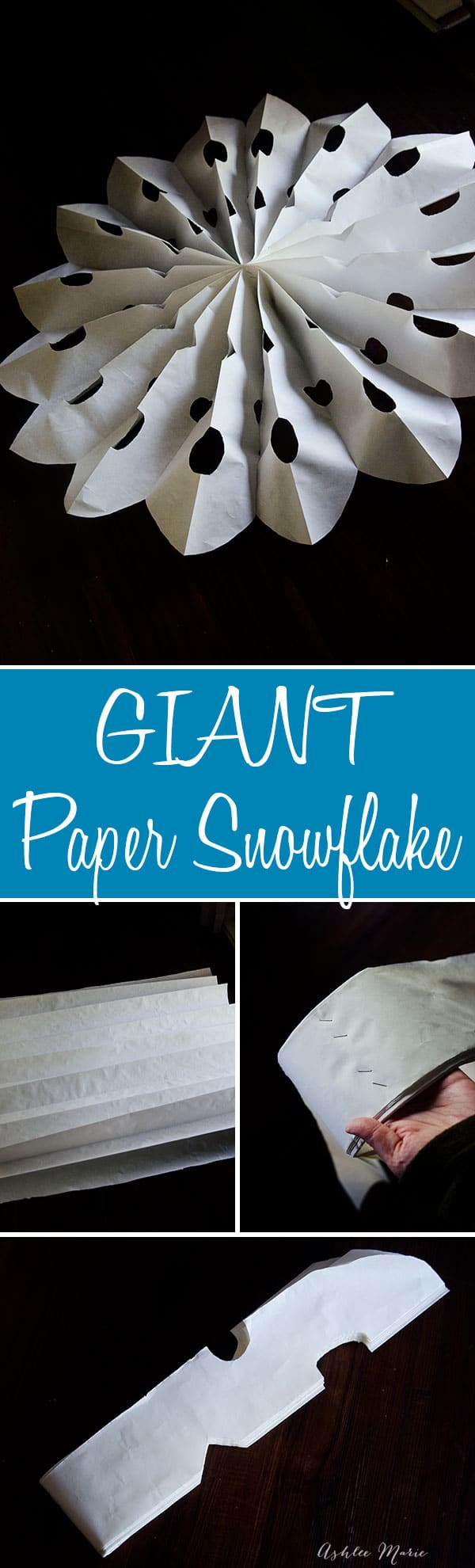 make HUGE paper snowflakes as an awesome backdrop at any party