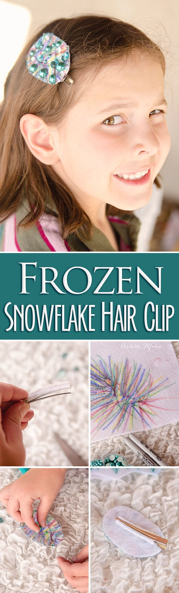 a fun craft activity for any party, use felt, markers and beads to create fun frozen hair clip