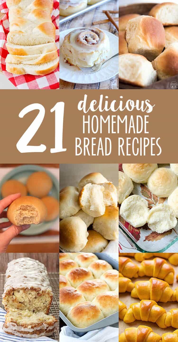 21 homemade bread recipes