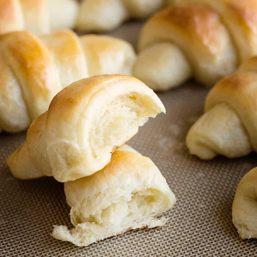 Buttery Crescent rolls recipe