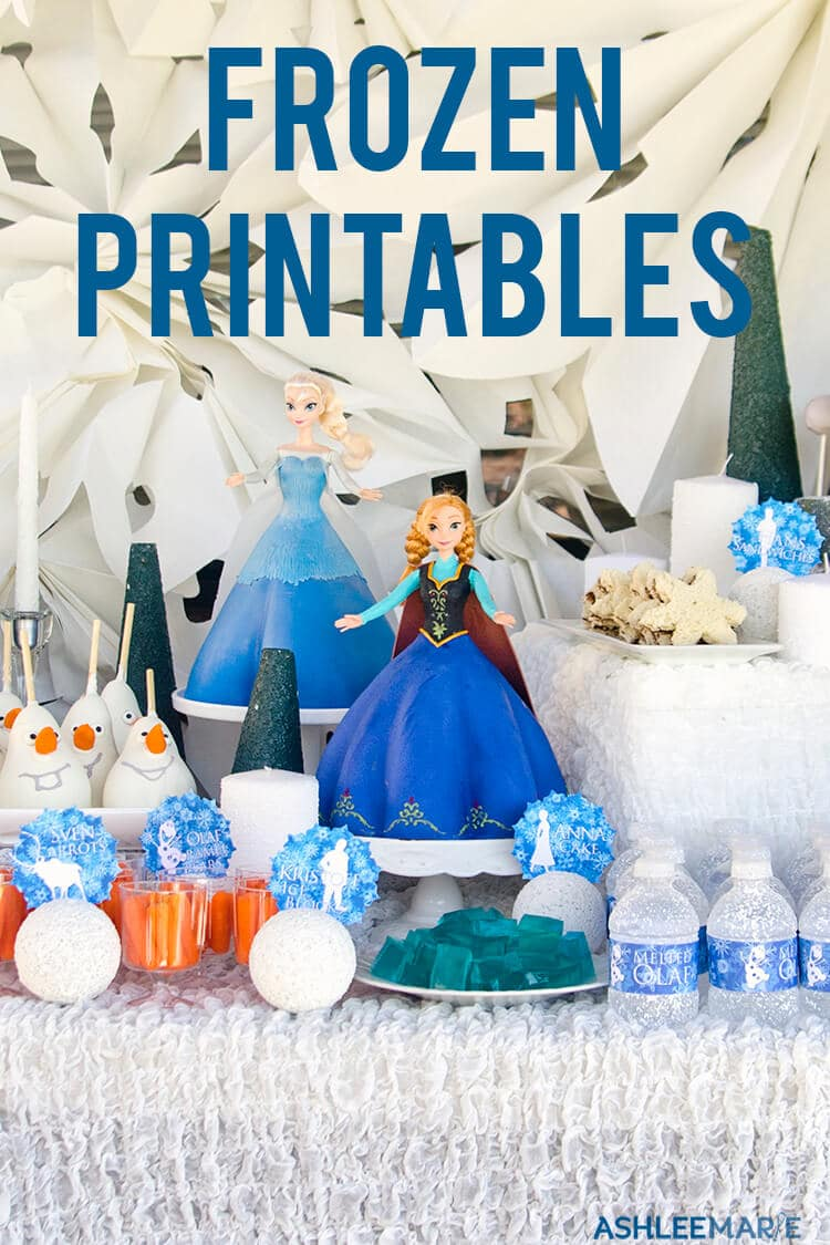 photograph relating to Frozen Food Labels Free Printable named Frozen birthday social gathering printables Ashlee Marie - legitimate enjoyment