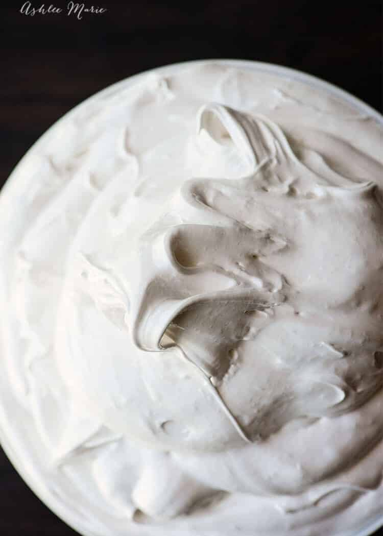 I could just eat this entire bowl of homemade marshmallow fluff - seriously delicious