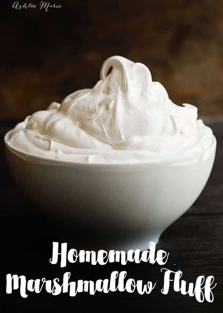 a recipe and video tutorial for making your own homemade marshmallow fluff