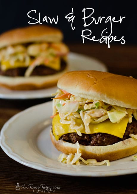 this slaw burger easy to make and delicious, a twist on the traditional burger with a great spice and tang you'll enjoy. #burger #recipes width=