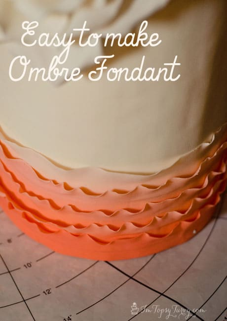 How to easily color fondant in an ombre style