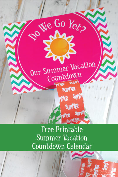 FREE Vacation Countdown Ideas and Printables from In Our Pond