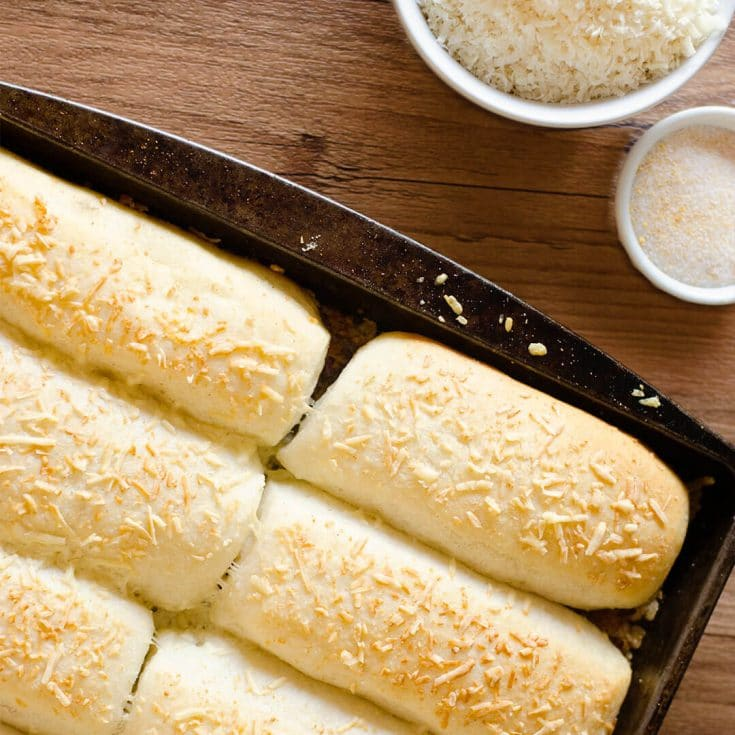 One Hour Parmesan Breadsticks Recipe