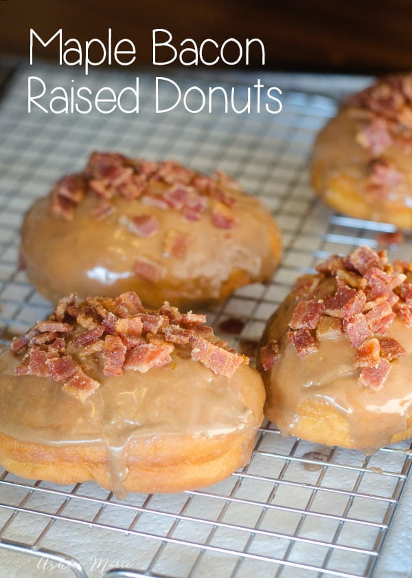 I am in love with maple and candied bacon in pretty much all forms, and it is especially good as a donut