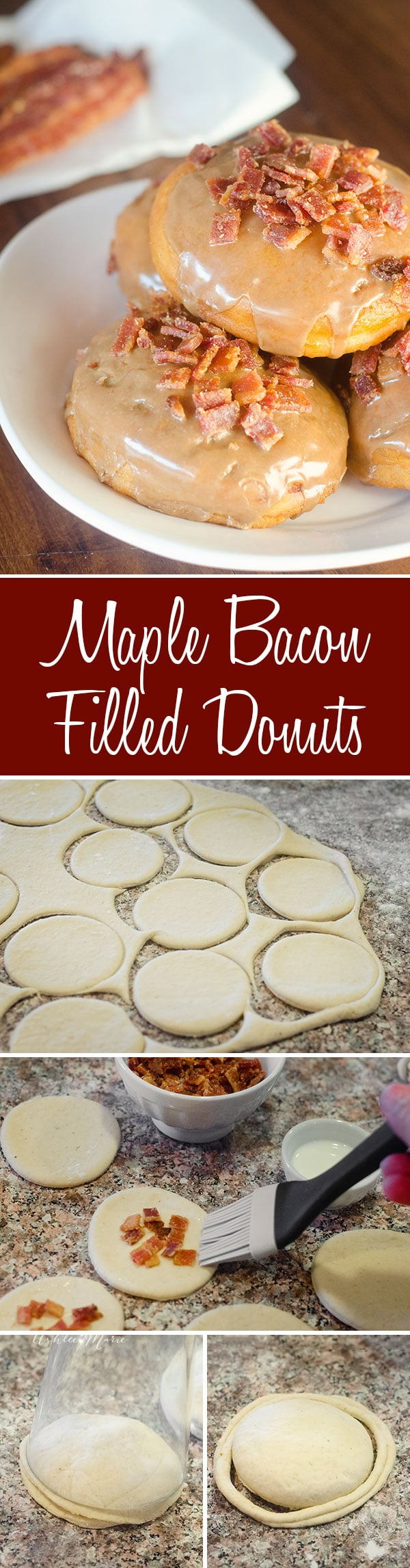 it doesnt get much better than fresh homemade donuts, add some candied bacon and maple glaze and everyone will fall in love