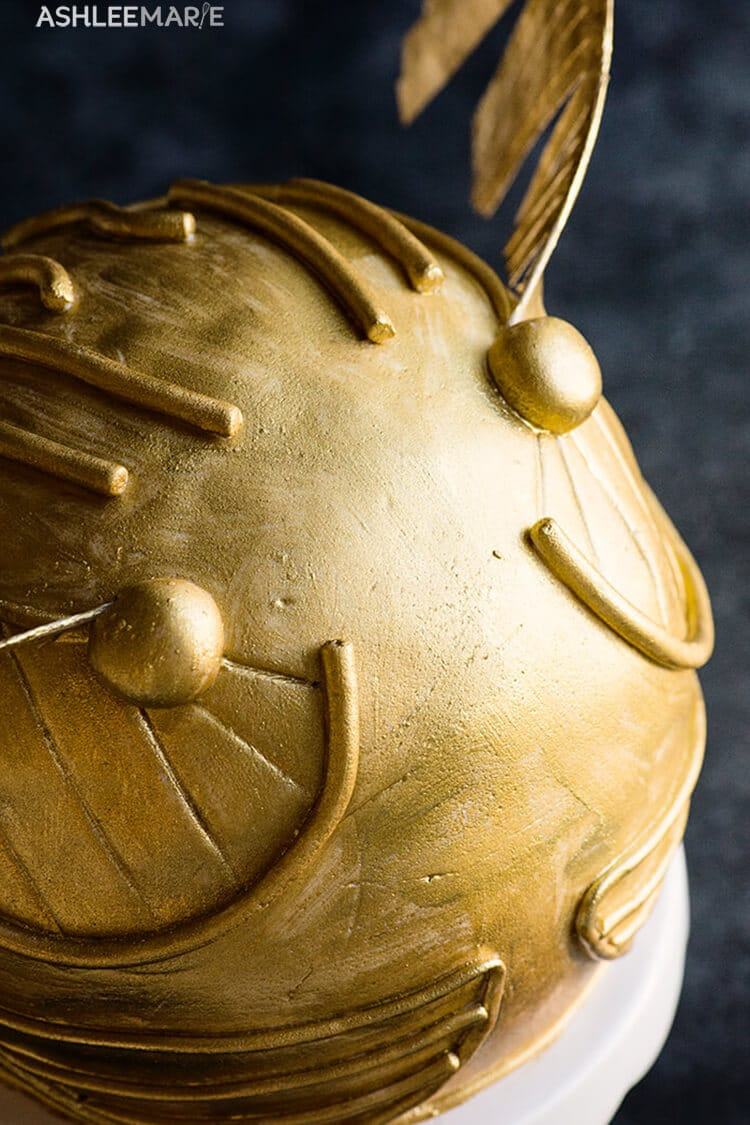 Harry Potter Golden Snitch Cake Party and Video tutorial