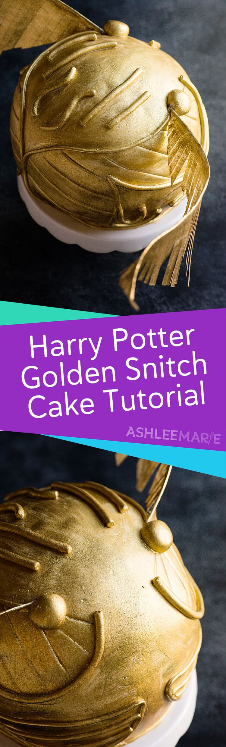 harry potter snitch cake tutorial