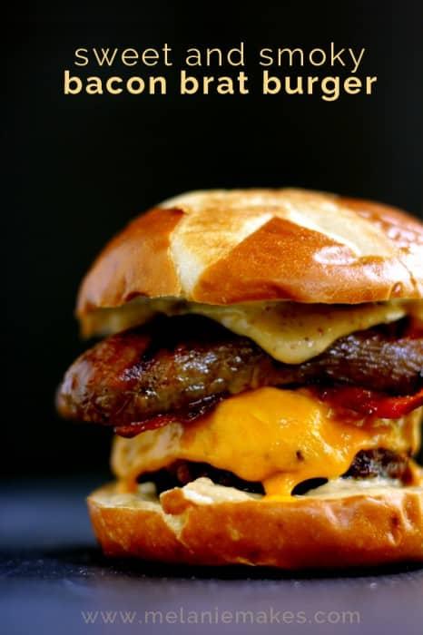09 - Melanie Makes - Sweet and Smoky Bacon Brat Burger