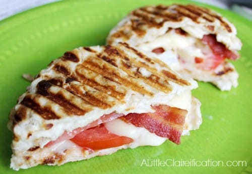 12 - A Little Claireification - Bacon Tomato and Brie Grilled Cheese