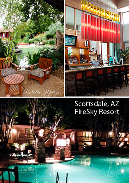 the FireSky resort and spa in Scottsdale, AZ  is warm and inviting and perfect for a get away or fun retreat