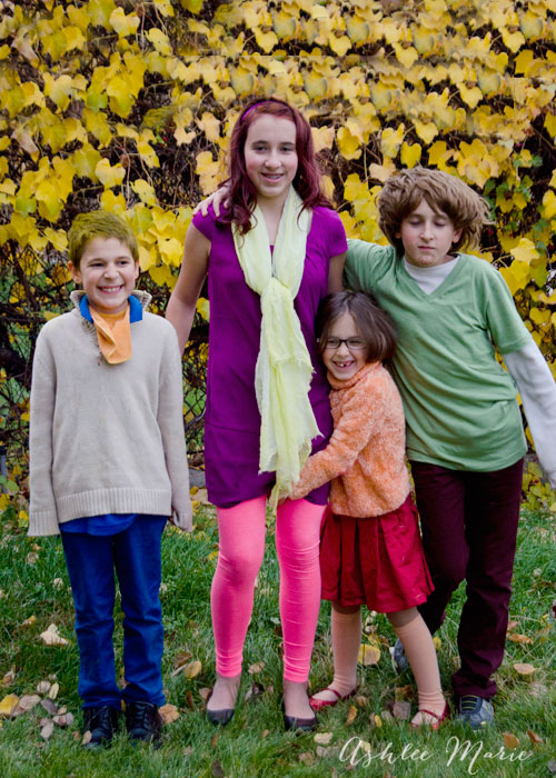 mystery incorporated scooby doo family halloween costume