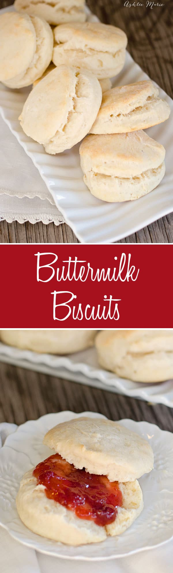 easy buttermilk biscuit recipe, perfect with jelly, jam and gravy