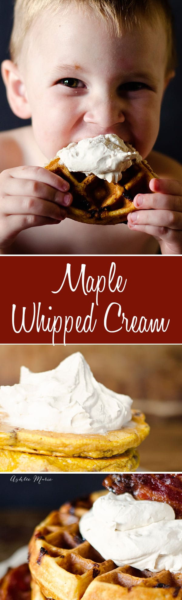 I love flavored whipped cream, peppermint, chocolate and my new favorite maple whipped cream