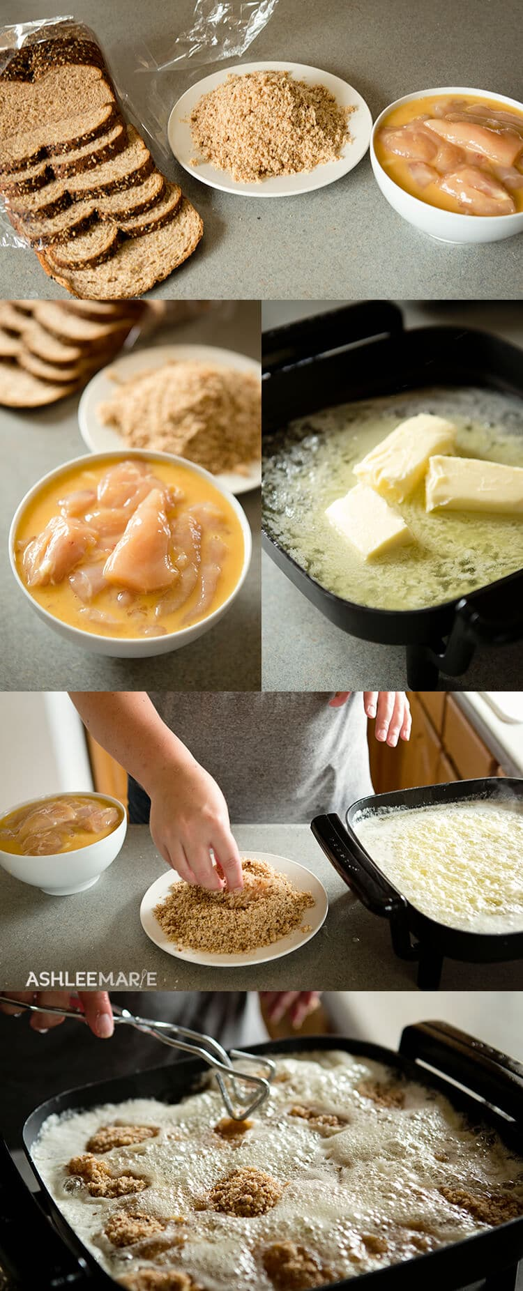 how to cook breaded chicken