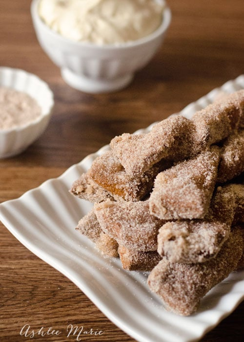 dipped in butter and cinnamon and sugar these sweet soft pretzels make an amazing dessert