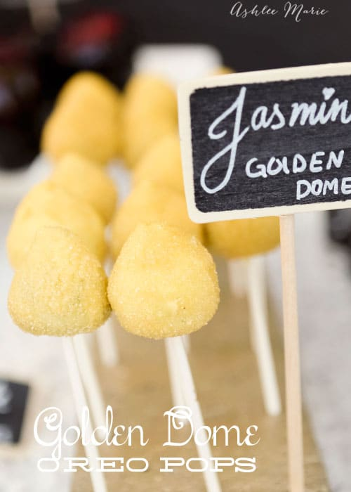 disney princess party foods, jasmine's golden domes from her castle towers