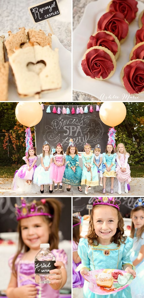disney princess themed party foods with fun activites make for a great princess spa party