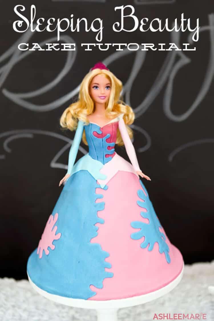 Sleeping Beauty Princess Cake Tutorial Ashlee Marie Real Fun