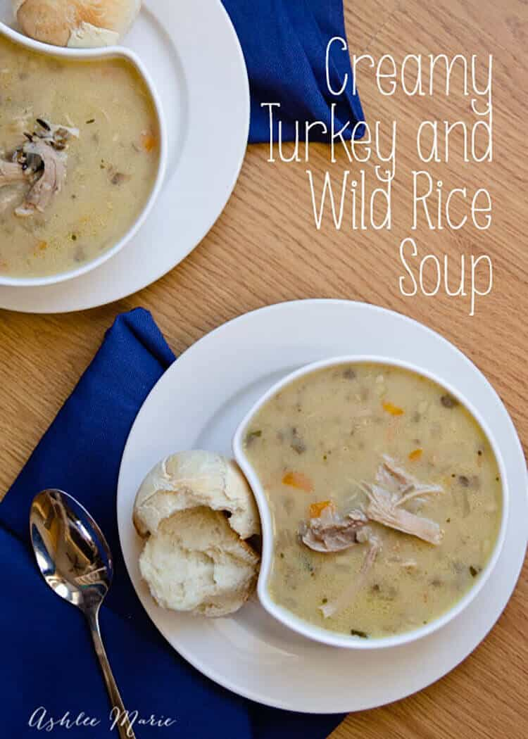 this soup is easy to make and tastes amazing, perfect for a cold fall day. Using leftover turkey and homemade turkey stock you'll impress all your guests
