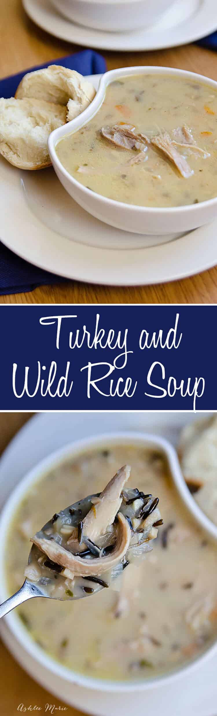 use your leftover turkey to make this flavorful turkey and wild rice soup