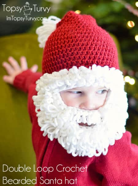 01 - Double Loop Bearded Santa Hat