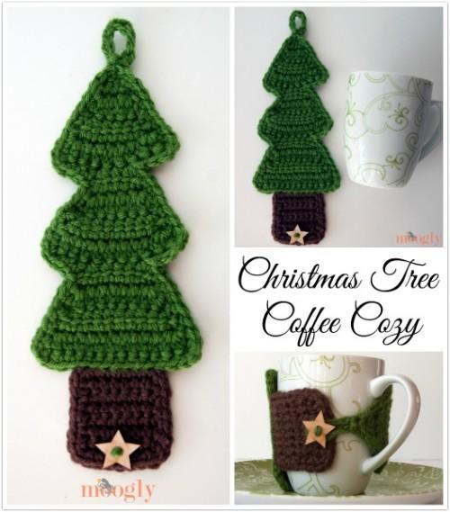 04 - Christmas Tree Coffee Cozy