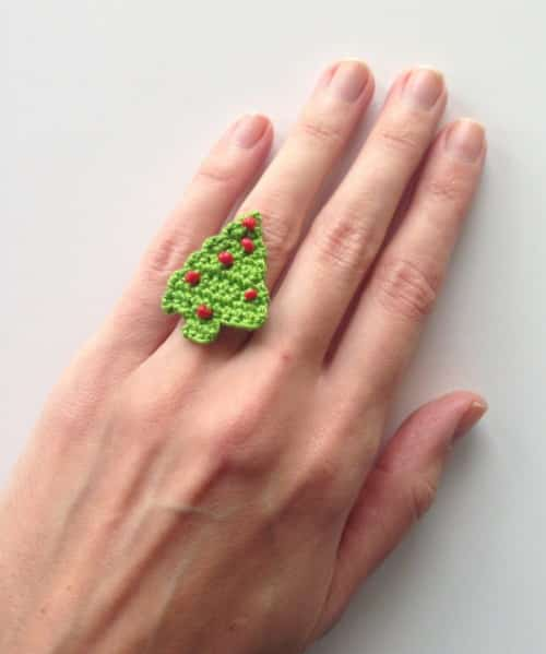 07 - Christmas Tree Ring Free Pattern