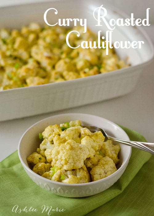 this curry roasted cauliflower makes a great side, it's super easy to make and tastes great