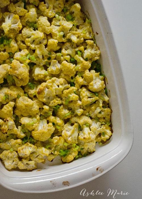 easy curry roasted cauliflower recipe