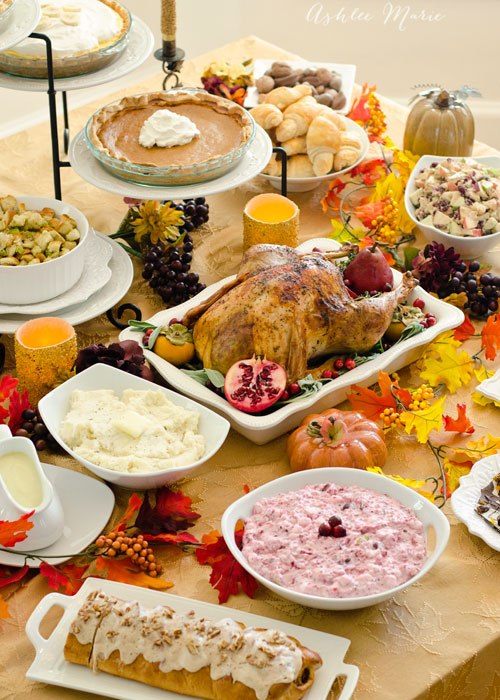 a full thanksgiving meal, from your favorite food bloggers, everything you could ask for