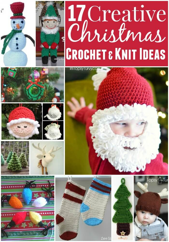 17 Creative Christmas Crochet knit Ideas
