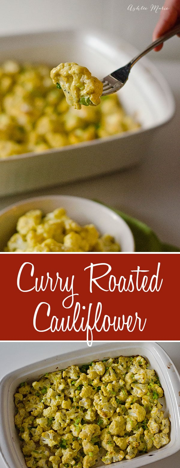 curry roasted cauliflower recipe, a slight tang to go with the spice