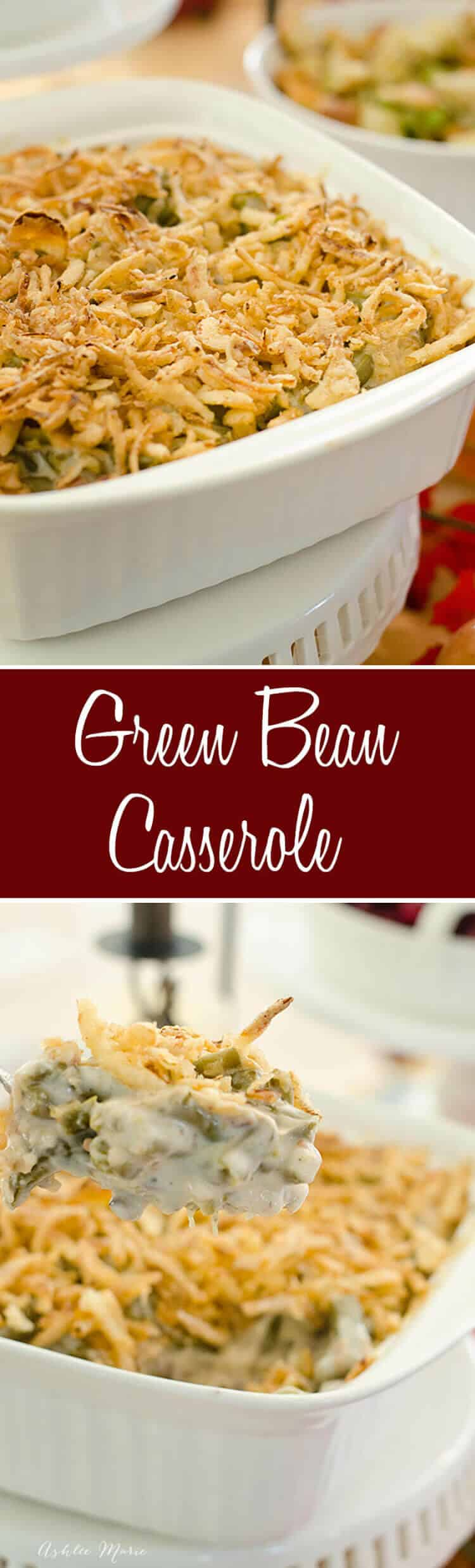 A classic and delicious thanksgiving dish, this green bean casserole is oh-so-delicious