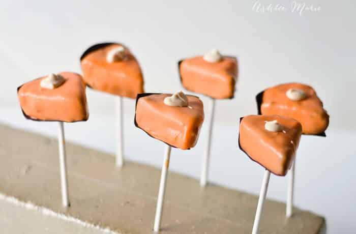 Pumpkin Pie Slices Oreo Ball Pops