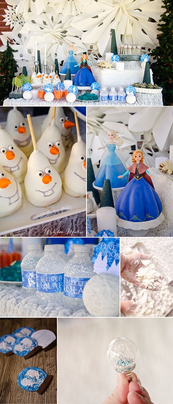 Frozen birthday party, printables, food, cakes and crafts