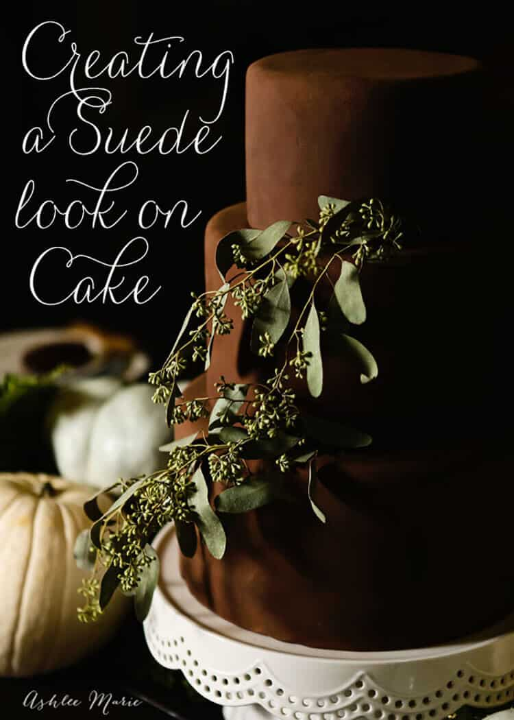 Creating a suede fondant cake is easy to do, and the effect is absolutely gorgeous!