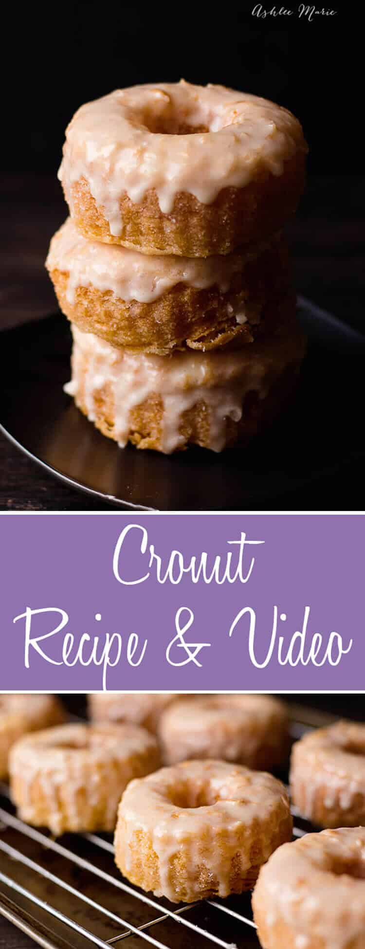Cronuts have been huge all year, instead of waiting in line make your own at home with this recipe and video tutorial