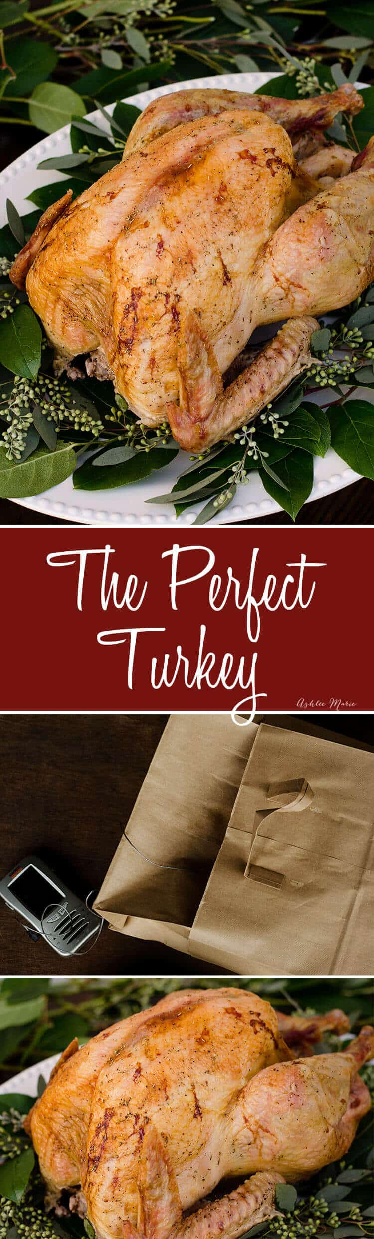The perfect turkey - moist, great flavor and a good skin - AND it cooks faster than other methods - compound butter and two brown bags - video tutorial
