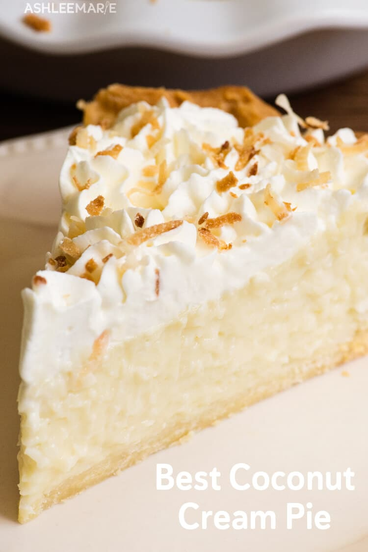 custard based coconut cream pie recipe and video