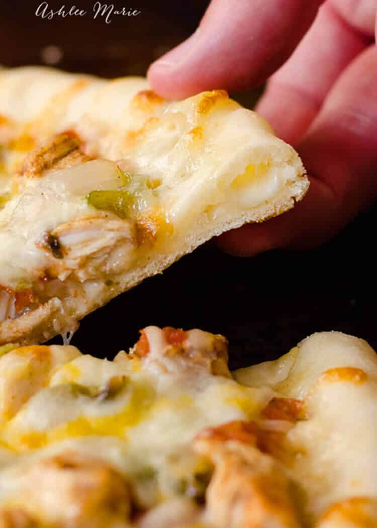 homemade stuffed crust pizza is a family favorite and easy to make